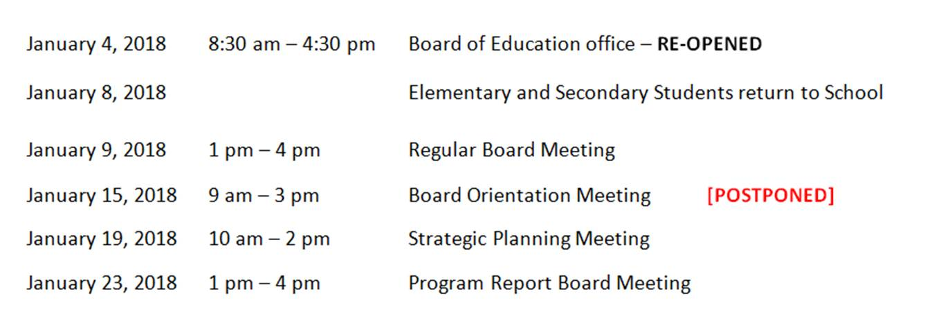 Board of Ed- Events (update)